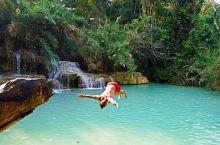 老挝的光西瀑布,宛如九寨秘境,还可以跳水