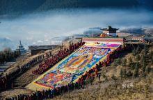 #在当地过节#人文之旅甘南晒佛节,盛大的毛兰姆法会,