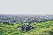 新西兰伊甸山的落日