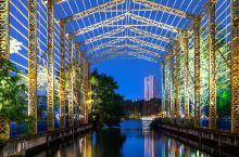 中山夜景,迷人的岐江公园