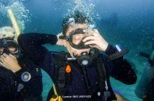 我们的第一潜是在涛岛北部的Mango Bay,下潜到了8米,水下时间36分钟,做了D2 的各种技巧。