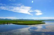 镶嵌在草原上的宝石 花湖