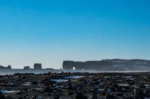 火山熔岩和大海的交集 冰岛黑沙滩