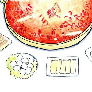 邛崃游记图文-#美食林体验师#【吃货手绘】行走在蓉城的美食与美景之间