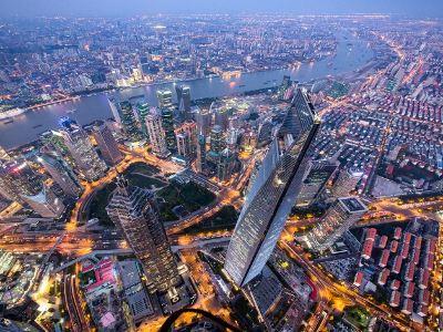 상하이 타워 전망대