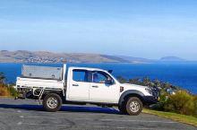 窗外的景色-Tasmania!4-路边鸟瞰霍巴特市景