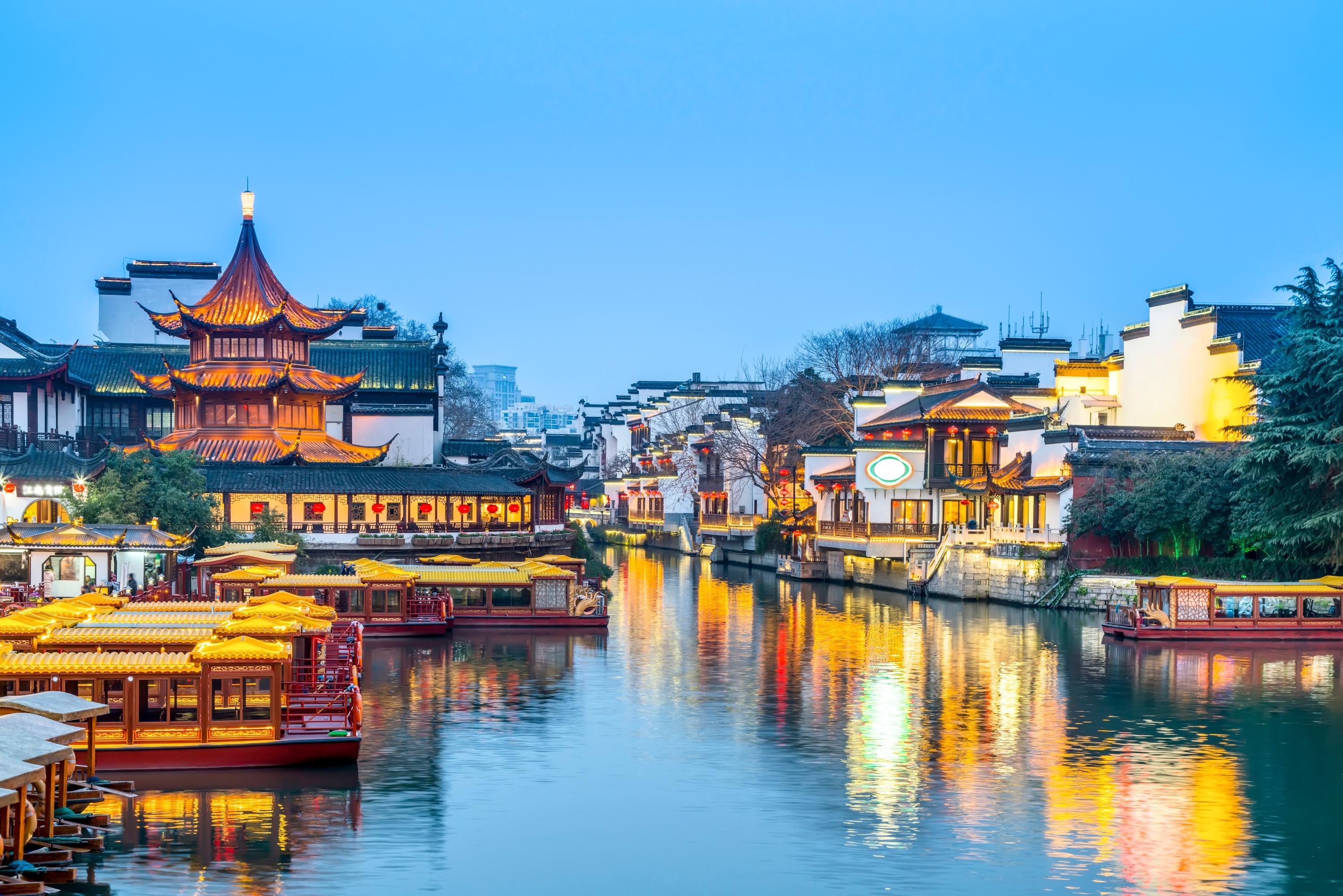 夫子庙秦淮河风光带旅游景点图片