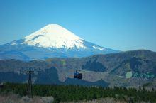 在大涌谷远眺富士山