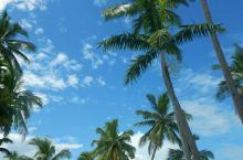 斐济的蓝天白云