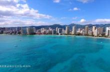 航拍夏威夷欧胡岛威基基