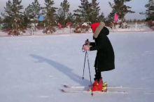 南方姑娘第一次滑雪