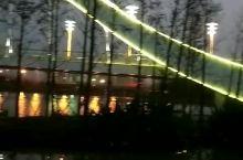 凌波桥漂亮的夜景