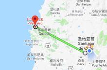 智利圣地亚哥到海边城市瓦尔帕莱索