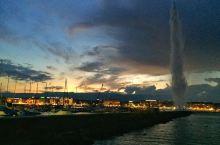安详平静的日内瓦的夜