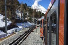 坐着齿轮火车去看马特洪峰