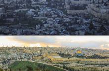 以色列旅行|小众旅行地,橄榄山上俯瞰耶路撒冷最美的日落