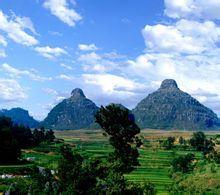双乳峰景区旅游景点攻略图