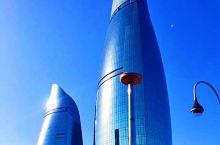 巴库,黑海之滨,火焰之城。港口的旗杆高162米(二)