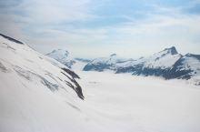 直升机看冰川