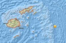 地震快讯 | 斐济群岛发生里氏8.1级地震