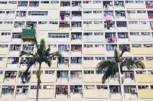 彩虹落入居民区,换个角度看香港!