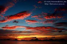 在爱妮岛看一场完美日落