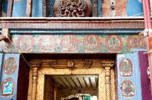 尼泊尔的旧皇宫,在加德满都的杜巴广场上