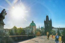 我就站在布拉格黄昏的查理大桥(9)