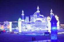 在哈尔滨冰雪大世界看秀