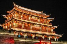 广济门城楼 站在城楼上吹风看夜景