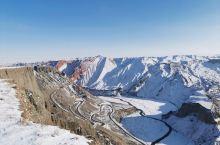 冰雪安集海大峡谷,