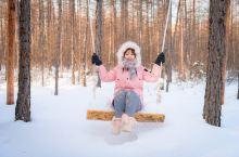 冬日的塔河县瓦拉干白桦林山庄是冰雪的世界