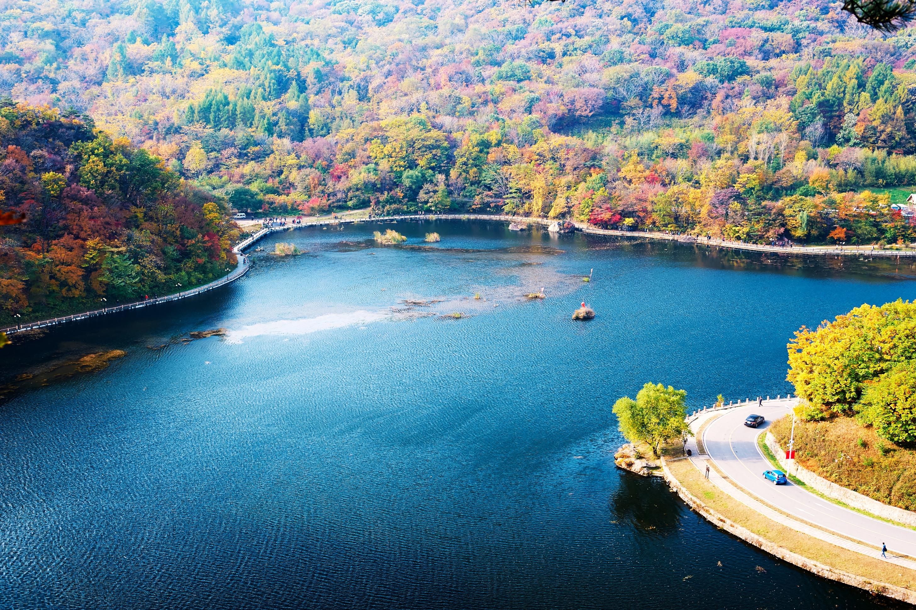 关山湖的图片