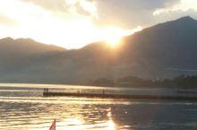 抚仙湖日落