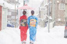 穿着和服漫步冬日小樽,探访情书里的纯白世界