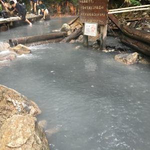 大汤沼川 天然足汤温泉旅游景点攻略图