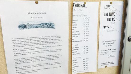 Knob Hall Winery PGH