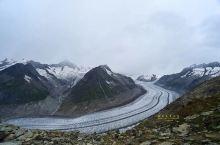 壮美的瑞士阿莱奇冰川