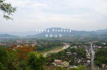 普西山上,湄公河畔的日落