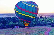 肯尼亚,飞跃马塞马拉。早上4:00出发,热气球先是平平躺倒在地上、然后充气加热后立了起来。上筐,筐里