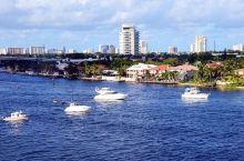 迈阿密风光,罗德岱堡。白色的帆船,像水面上掠过的飞鸟