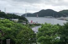 在美丽的哥拉巴园眺望如诗如画的长崎港