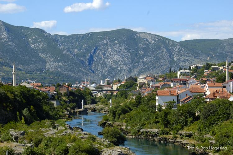 Old Bridge Area of the Old City of Mostar1
