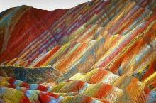 张掖彩虹山 彩虹山,大自然的神作,下雨后更美! 