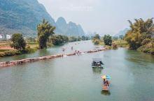 航拍美丽桂林遇龙河