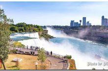 观赏美国与加拿大边境的尼亚加拉瀑布(Niagara Falls)