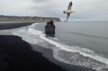 冰岛黑沙滩