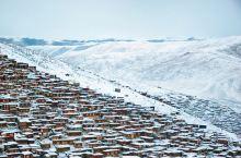 #最美冬季雪景#少有人见的冬季色达