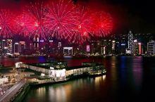 在香港过年 赏烟花汇演