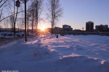 塔河美丽的日落
